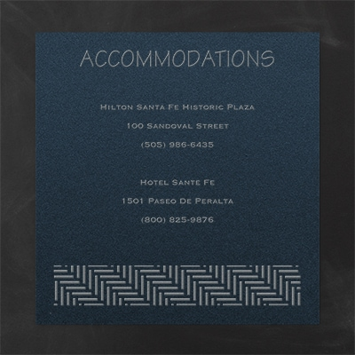 Meaningful Mitzvah - Boy - Accommodation Card - Navy Shimmer