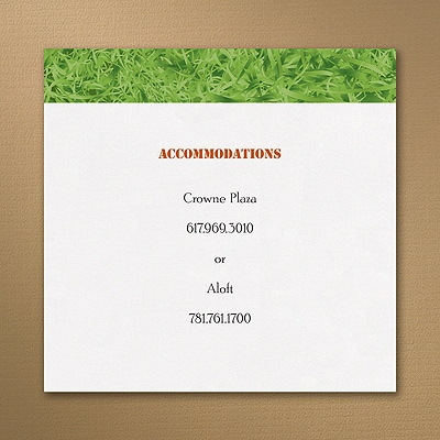 Sports Star - Football - Accommodation Card