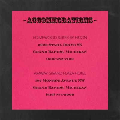 Poster Proclamation - Accommodation Card - Fuchsia