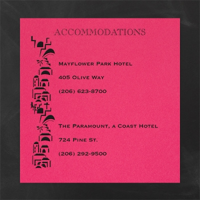 Commandment of Faith - Accommodation Card - Fuchsia