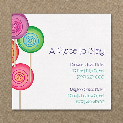 Sweet as Candy - Accommodation Card