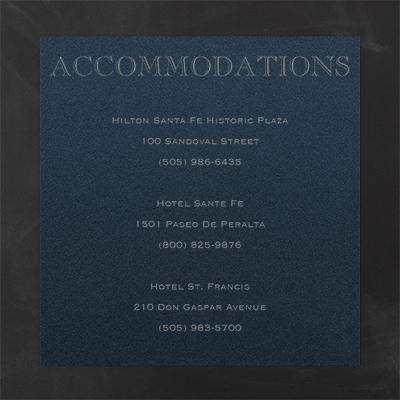 Accommodation Card - Navy Shimmer