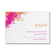 Color Splash - Response Card and Envelope