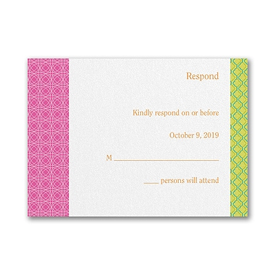 Captivating Combo - Bat Mitzvah - Response Card and Envelope