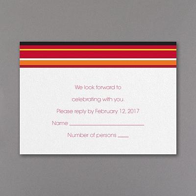 Sensational Stripes - Response Card and Envelope - Mango