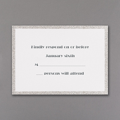Silver Dazzle - Respond Card and Envelope