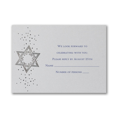 Star of David - Response Card and Envelope