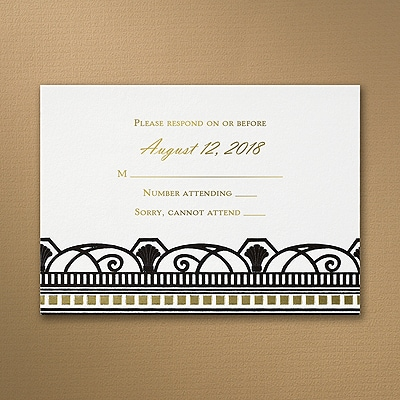 Ritzy Style - Response Card and Envelope