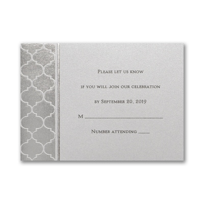 Moroccan Pattern - Response Card and Envelope