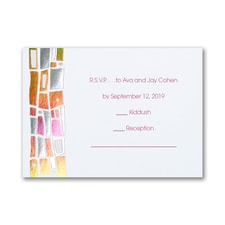 Hip Mosaic - Brights - Response Card