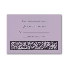 Meaningful Mitzvah - Girl - Response Card and Envelope - Lavender