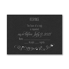 Turn of Tradition - Response Card and Envelope - Black Shimmer