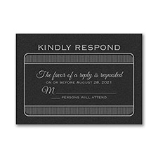 Exclusive VIP Pass - Response Card and Envelope - Black Shimmer