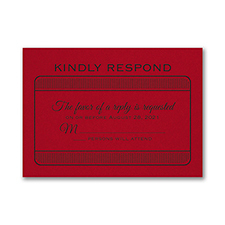 Exclusive VIP Pass - Response Card and Envelope - Claret