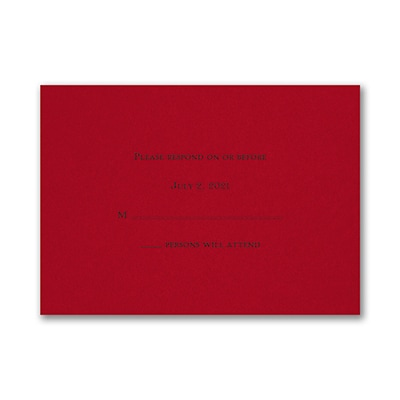 Shield of David - Response Card and Envelope - Claret