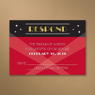 Red Carpet Event - Response Card and Envelope