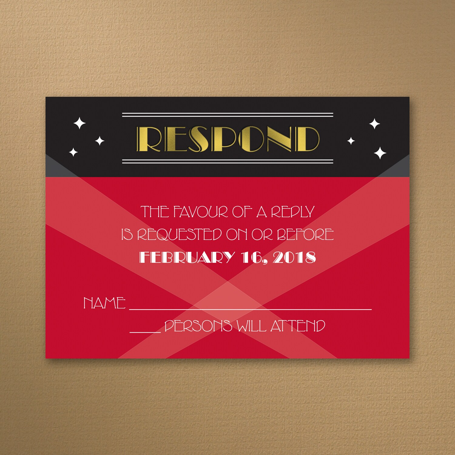 Red Carpet Event - Response Card and Envelope > Shop All Parties ...