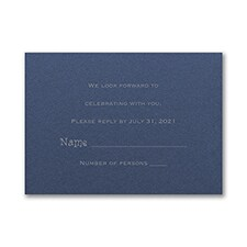 Response Card and Envelope - Sapphire Shimmer