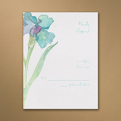 Iris - Response Card and Envelope