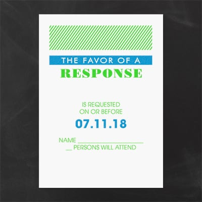 Vivid and Vibrant - Response Card and Envelope