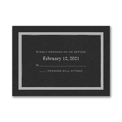 Meaningful Star - Response Card and Envelope - Black Shimmer