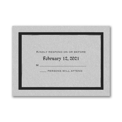 Meaningful Star - Response Card and Envelope - Silver Shimmer