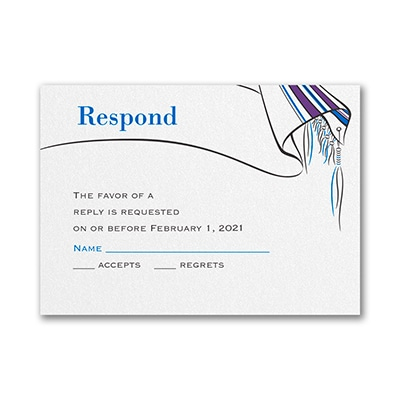 Tallit and Star - Response Card and Envelope