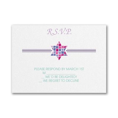 Prism Mosaic - Bat Mitzvah - Response Card and Envelope