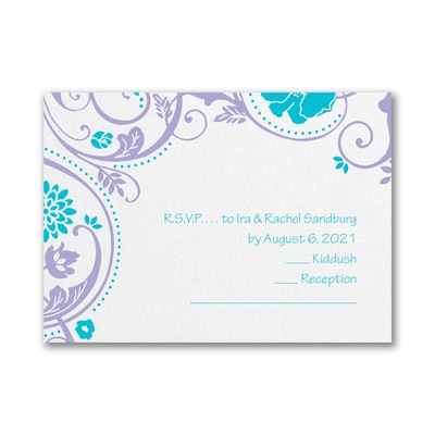 Swirls and Petals - Response Card and Envelope
