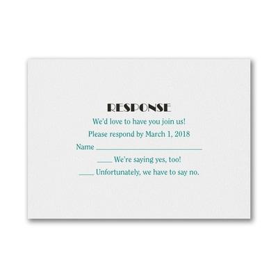 Celebrating Big - Response Card and Envelope