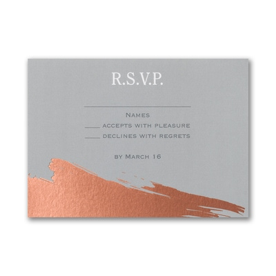 Painted Foil - Response Card and Envelope