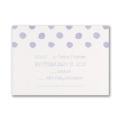 Dotted Celebration - Response Card and Envelope