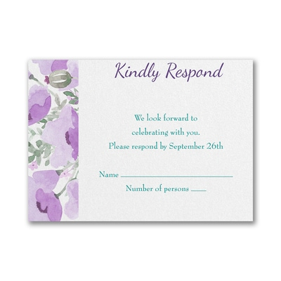 Peaceful Star - Response Card and Envelope - Violet