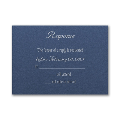 Marvelous Tree - Response Card and Envelope - Sapphire Shimmer