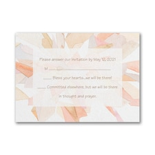 Watercolor Celebration - Response Card and Envelope - Coral