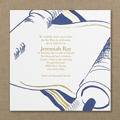 Torah and Tallit - Invitation