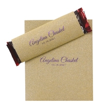 Sweetest Love - Candy Bar Wrapper - Gold Glitter