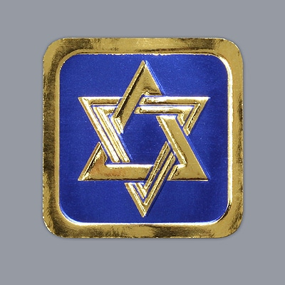 Blue and Gold Star of David - Seal