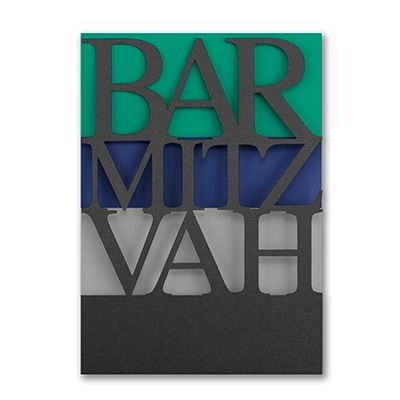 Color Bands - Bar Mitzvah - Invitation
