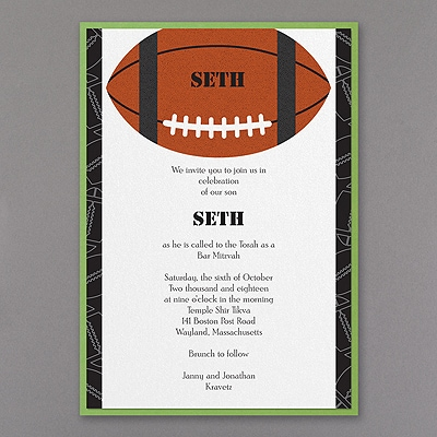 Sports Star - Football - Layered Invitation