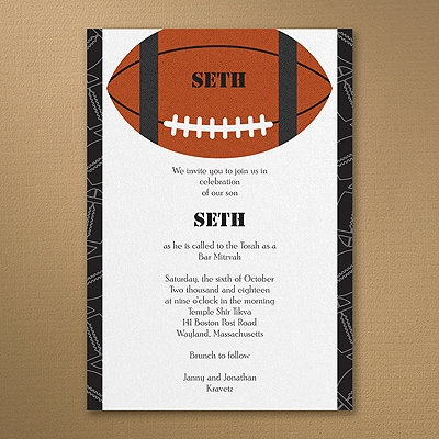Sports Star - Football - Invitation