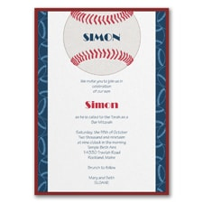 Sports Star - Baseball - Invitation with Backer
