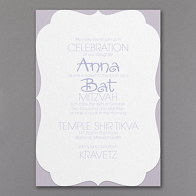 Endearing Day - Layered Invitation - Crest