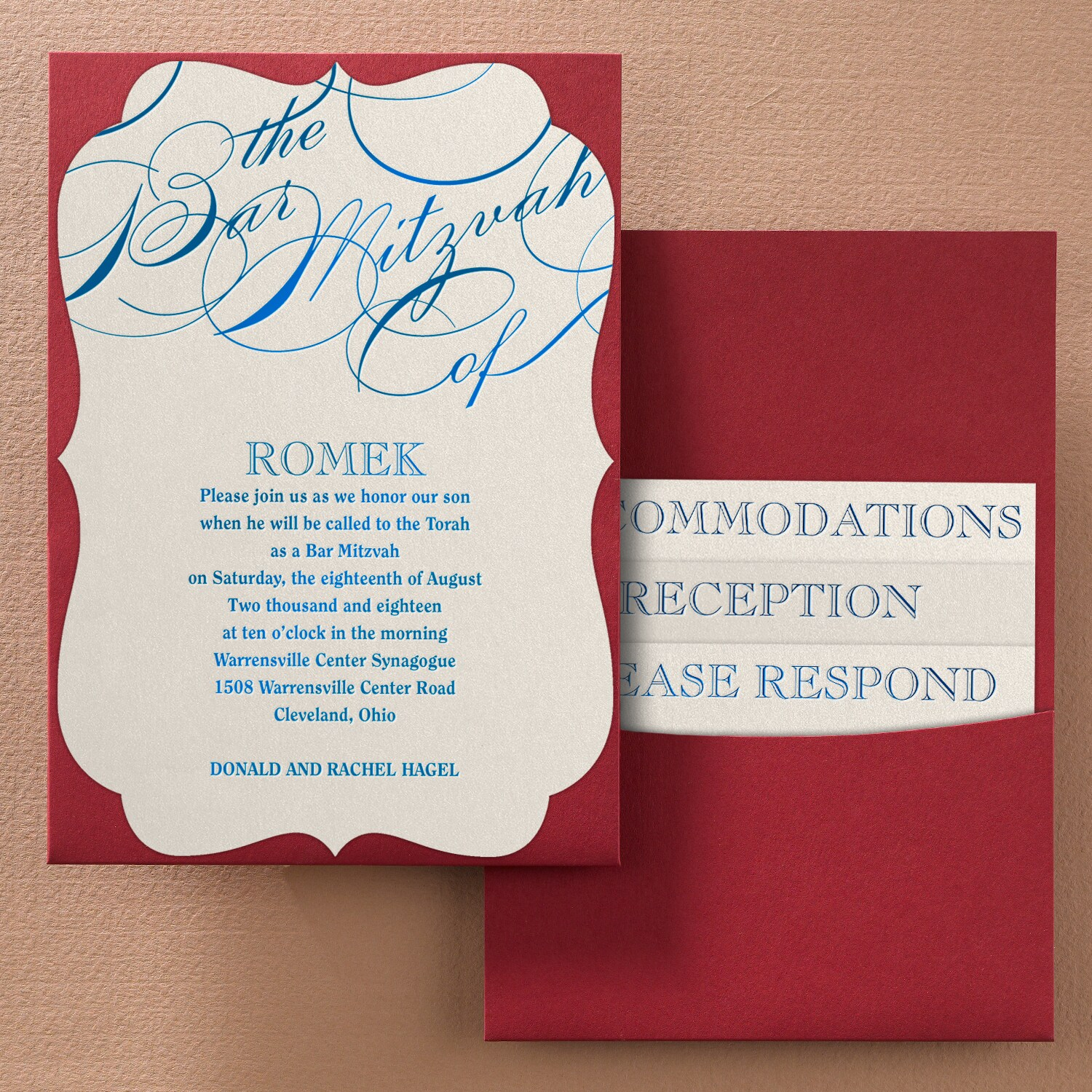 Unending Promise - Bar Mitzvah Pocket Invitation - Crest > Bar & Bat ...