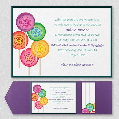 Sweet as Candy - Layered Pocket Invitation