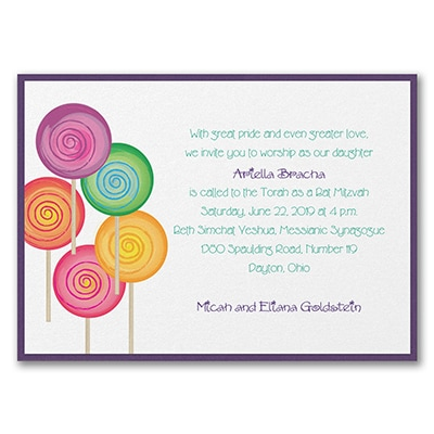Sweet as Candy - Invitation with Backer