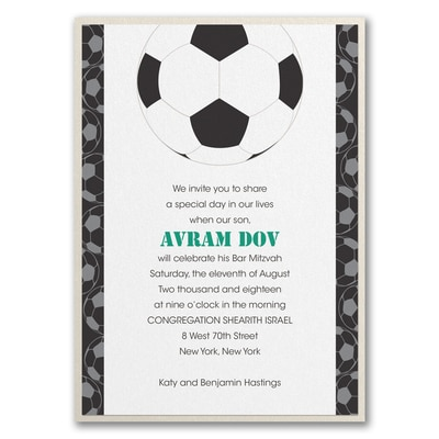Sports Star - Soccer - Invitation with Backer