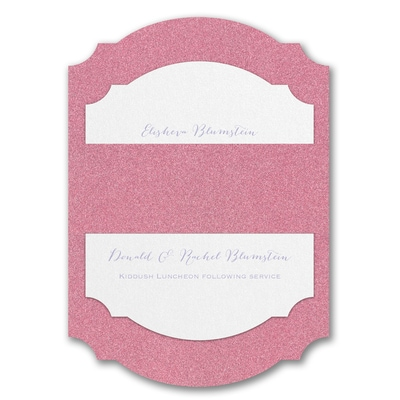 Wrapped in Dazzle Pink Glitter Backer - Without Design