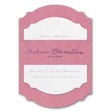 Wrapped in Dazzle Pink Glitter Printed Backer