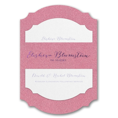 Wrapped in Dazzle Pink Glitter Printed Backer - Without Design